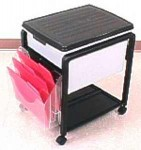 Original Fold 'N Roll cart with letter legal tub and 3-tier organizer