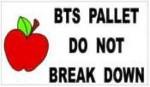 BTS pallet label