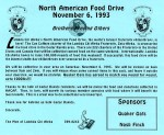 LCA North America Food Drive flyer