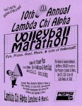 LCA 10th Annual Volleyball Marathon poster