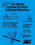 LCA 11th Annual Volleyball Marathon poster