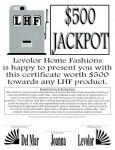 Jackpot certificate