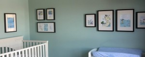 Hanging wall frames based on a center focal plane.