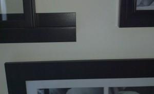 Subtle variances in frame styling, black shelf for one for added depth.