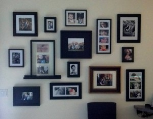 Finished Family Photo Wall